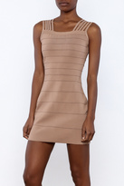 Griffin Camel Bandage Dress