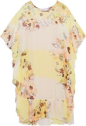 See by Chloe Ruffled Floral-print Georgette Dress