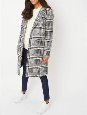 George Maternity Black Checked Longline Coat