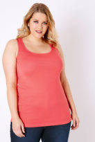 Yours Clothing Coral Cotton Vest Top