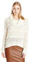 DKNY Women's Yarn Mix Crochet Cowl Pullover