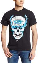 WWE Men's Stone Cold Steve Austin Skull 3 16 Inch Front and Back T-Shirt