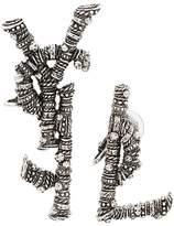 Saint Laurent Logo Clip Earrings