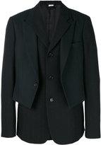 Comme des Garcons layered formal jacket