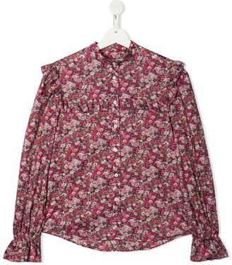 Philosophy Di Lorenzo Serafini Kids Floral Print Long-Sleeve Shirt