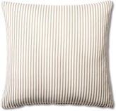 French Laundry Home Ticking 20x20 Cotton Pillow, Brown