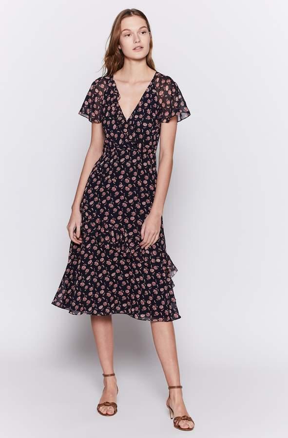 Joie Orita Silk Ruffled Floral Dress