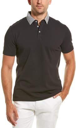 Stone Rose Dropped-Shoulder Polo Shirt