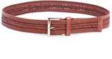 "Linea Pelle 1.5"" Center Braid Versatile Hip Belt in Cognac"