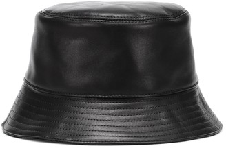 Loewe Leather bucket hat