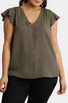 Braid Insert Button Thru Blouse