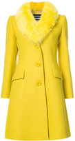 Moschino single breasted stole coat - women - Polyamide/Polyester/Virgin Wool - 38