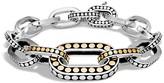 John Hardy Sterling Silver and 18K Bonded Gold Dot Graduated Link Bracelet