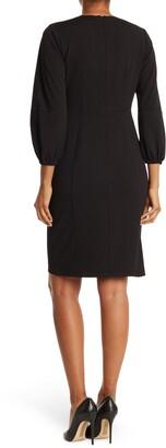 Donna Morgan Keyhole Cutout Scuba Crepe Dress