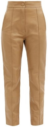 Petar Petrov Herena Panelled Leather Trousers - Beige