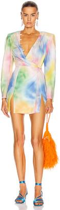 ATTICO Lauren Mini Dress in Pastel Multicolor   FWRD