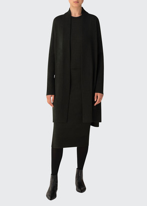 Akris Punto Long Open-Front Cardigan