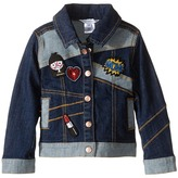 Little Marc Jacobs Denim Jacket with Fancy Patches Girl's Coat