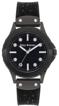 Juicy Couture Woman's Juicy Couture, 1013BKBK Silicon Strap Watch