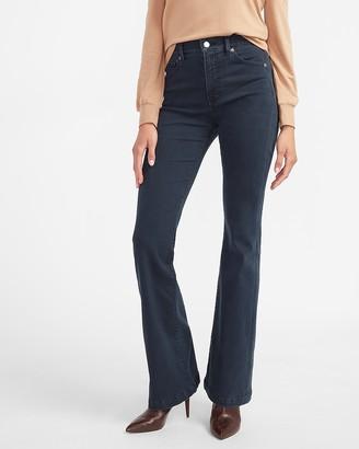 Express High Waisted Dark Wash Flare Jeans