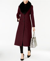 Forecaster Fox-Fur-Trim Shawl-Collar Maxi Coat