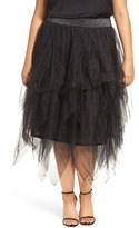 Melissa McCarthy Tiered Tulle Skirt (Plus Size)