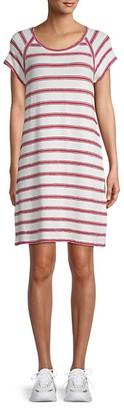 Max Studio Striped Roundneck Dress