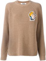 MSGM beaded face patch jumper
