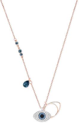 "Swarovski Rose Gold-Tone Crystal Evil-Eye 14-7/8"" Pendant Necklace"