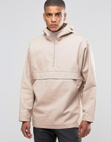Asos Overhead Cotton Jacket With Hood In Pink
