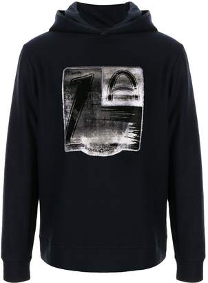 Giorgio Armani contrast print hoodie