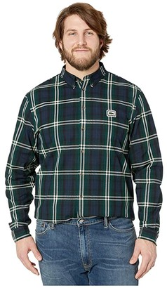 Lacoste La Flannel 90s Spirit Woven Regular Shirt (Beeche/Sabler) Men's Clothing