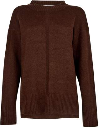 Dorothy Perkins Womens **Tall Chocolate Brown Chunky Knit Jumper, Brown