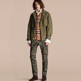 Burberry Tumbled Ramie Cotton Twill Field Jacket