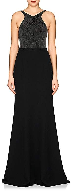 Narciso Rodriguez Women's Studded Silk Crepe Gown