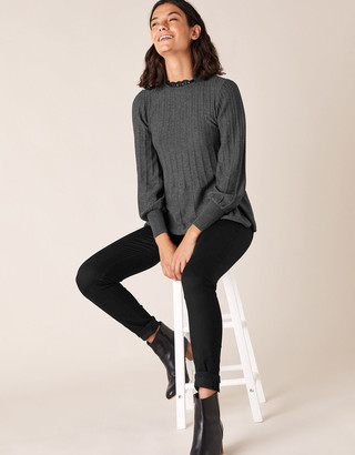 Under Armour Woven Neckline Knit Jumper with Recycled Polyester Grey