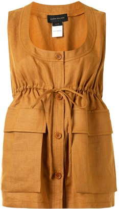 Karen Walker Tulip sleeveless top