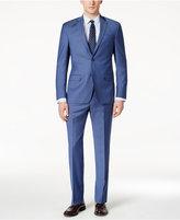 DKNY Men's Slim-Fit Light Blue Suit