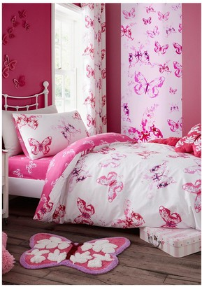 Catherine Lansfield Butterfly Duvet Cover Set