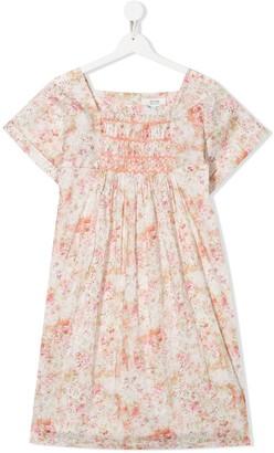 Bonpoint TEEN rose-print smocked dress