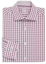 Bugatchi Shaped Fit Checkered Dress Shirt