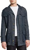 Valstar Men's Linen Field Jacket w/ Cinched Waist