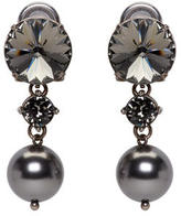 Miu Miu Gunmetal Pearl and Crystal Earrings