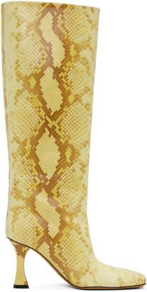 Proenza Schouler Yellow Snake Tall Boots