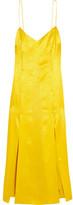 Topshop Floral Fatale Silk-jacquard Dress - Yellow