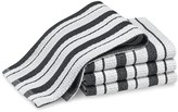 Williams-Sonoma Classic Striped Dishcloths, Jet Black