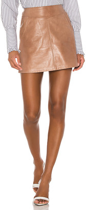 LAMARQUE Peggy Leather Mini Skirt