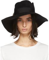 Gucci Black Felt Wide-Brim Hat