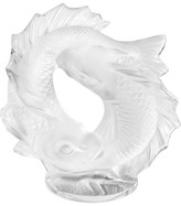 Lalique Small Double Fish Sculpture