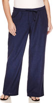 Liz Claiborne Drawstring Wideleg Linen Pants